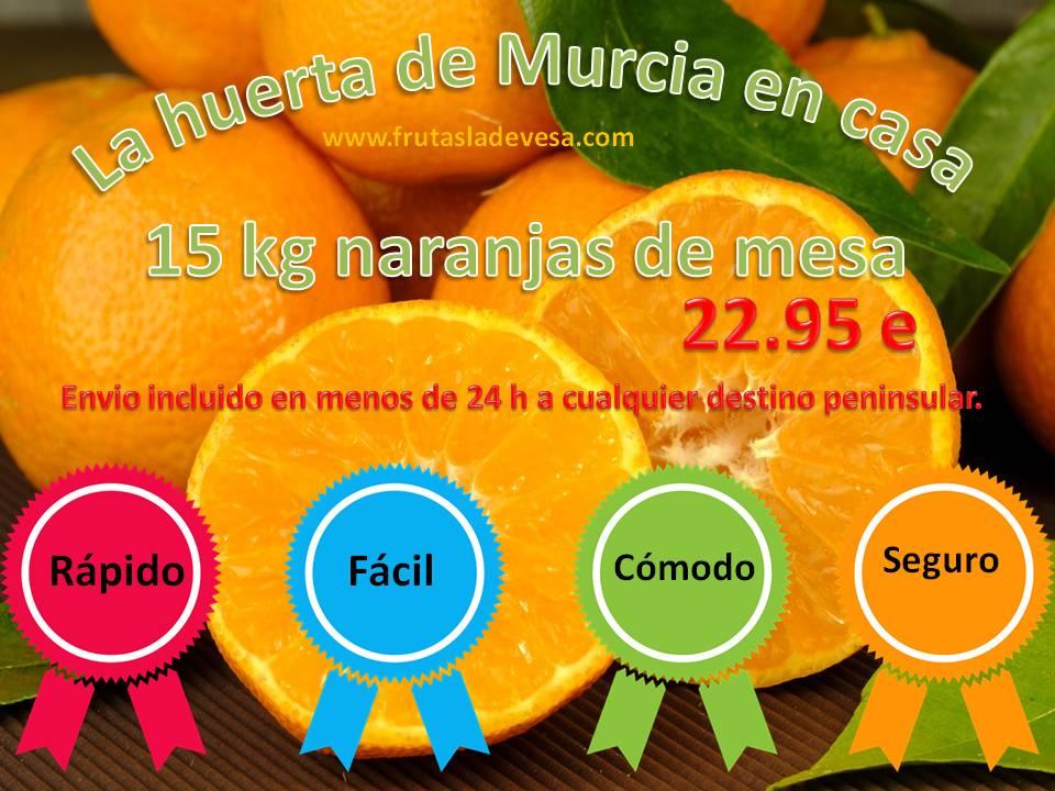 15 kg naranjas de mesa Calidad I de la huerta de Murcia